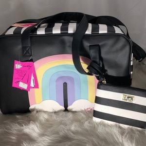 Betsey Johnson Rainbow Weekender Bag